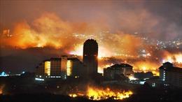 Hãi hùng biển lửa nhấn chìm thị trấn Đông Bắc Hàn Quốc giáp với Triều Tiên