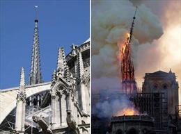 Hình ảnh Nhà thờ Đức Bà Paris trước và sau vụ hỏa hoạn