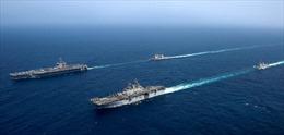 Video tàu sân bay Mỹ rầm rập tập trận, gửi thông điệp cứng rắn tới Iran