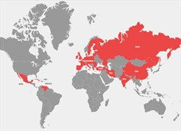 Trong 1 tuần, Mỹ căng thẳng với 36 quốc gia
