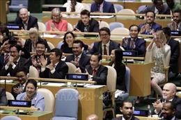 Cả khán phòng vỡ oà chia vui Việt Nam trúng cử uỷ viên không thường trực HĐBA LHQ với số phiếu cao kỷ lục