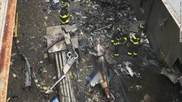 Người New York lo sợ 'Bóng ma khủng bố 11/9' khi trực thăng đâm vào nhà cao tầng