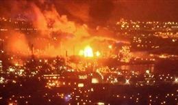 Hiện trường nhà máy lọc dầu tại Nam Philadelphia phát nổ thành quả cầu lửa
