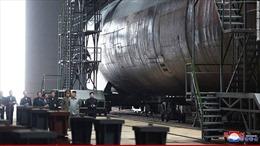 Cận cảnh tàu ngầm Triều Tiên thế hệ mới có thể mang tên lửa đạn đạo