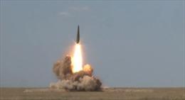 Quân đội Nga công bố video thử nghiệm tên lửa Iskander
