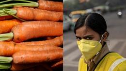 Phòng bệnh do ô nhiễm, Bộ trưởng Y tế Ấn Độ khuyên dân ăn cà rốt