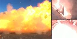 Khoảnh khắc nguyên mẫu tàu vũ trụ Starship phát nổ khi hạ cánh thử nghiệm
