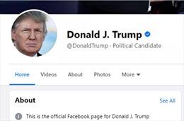 Facebook, Instagram bỏ chặn tài khoản Tổng thống Trump nhưng thay đổi chức danh