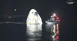 Cận cảnh SpaceX đưa 4 phi hành gia ISS trở về Trái Đất trong đêm