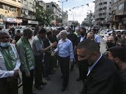 Thủ lĩnh Hamas xuất hiện hiếm hoi trong cuộc diễu hành sau 11 ngày xung đột
