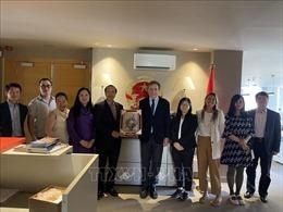 Đại sứ Việt Nam tại Tây Ban Nha thăm và làm việc tại Barcelona