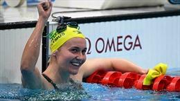 Nữ kình ngư Ariarne Titmus của Australia đoạt HCV bơi tự do nữ 400 mét