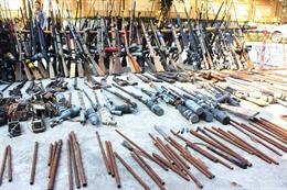 Vận động thu hồi gần 200 vũ khí tự chế, vật liệu nổ