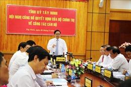 Trưởng Ban Tổ chức Trung ương Phạm Minh Chính làm việc tại tỉnh Tây Ninh
