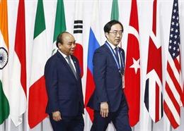 Thủ tướng Nguyễn Xuân Phúc gặp gỡ các doanh nghiệp hàng đầu trong lĩnh vực công nghệ Nhật Bản