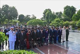 Lãnh đạo TP Hà Nội dâng hương Đức Thái Tổ Lý Công Uẩn và viếng Lăng Chủ tịch Hồ Chí Minh