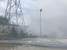 Hải Phòng: Cháy lớn thiêu rụi nhà xưởng rộng hàng nghìn mét vuông