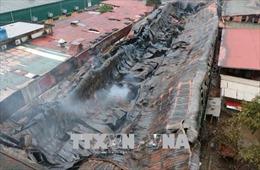 Khắc phục thiệt hại vụ cháy chợ Gạo và nhà máy nhựa tại thành phố Hưng Yên
