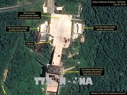 Triều Tiên 'dường như' dừng tháo dỡ bãi thử Sohae