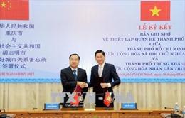 Thành phố Hồ Chí Minh và thành phố Trùng Khánh thiết lập quan hệ thành phố hữu nghị