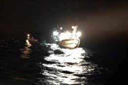 Kịp thời cứu trợ 43 ngư dân trên tàu câu mực chết máy, bị sóng lớn đánh chìm