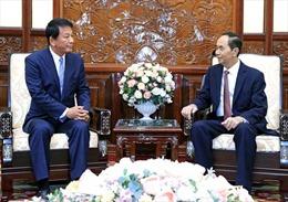 Chủ tịch nước: Quan hệ Đối tác chiến lược sâu rộng Việt Nam - Nhật Bản phát triển tốt đẹp