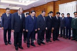 Lãnh đạo Đảng, Nhà nước Lào đến viếng Chủ tịch nước Trần Đại Quang