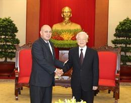 Tổng Bí thư Nguyễn Phú Trọng tiếp Đoàn đại biểu cấp cao Cuba