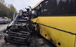 Hai xe khách đâm nhau trên cao tốc, 30 người thương vong