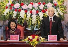 Tổng Bí thư, Chủ tịch nước Nguyễn Phú Trọng làm việc với Văn phòng Chủ tịch nước