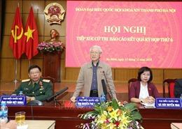 Tổng Bí thư, Chủ tịch nước Nguyễn Phú Trọng tiếp xúc cử tri Hà Nội