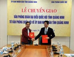 Chuyển giao Văn phòng Đoàn Đại biểu Quốc hội tỉnh về UBND tỉnh Quảng Ninh