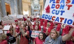 Trên nửa triệu học sinh tại Mỹ bị ảnh hưởng do hàng chục nghìn giáo viên đình công