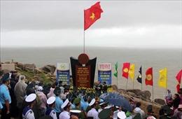 Lễ chào cờ đầu năm mới ở điểm cực Đông trên đất liền