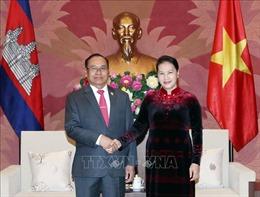 Chủ tịch Quốc hội Nguyễn Thị Kim Ngân tiếp Phó Chủ tịch Thượng viện Campuchia