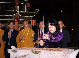 Phó Chủ tịch nước dự lễ khai hội mùa Xuân Côn Sơn - Kiếp Bạc 2019