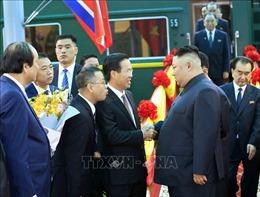 Chủ tịch Triều Tiên Kim Jong-un đến ga Đồng Đăng, bắt đầu chuyến công du Việt Nam