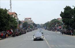Những hình ảnh đoàn xe Chủ tịch Triều Tiên Kim Jong-un trên đường về Hà Nội