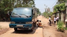 Đứng chơi giữa đường, bé gái 15 tháng tuổi bị xe tải cán tử vong