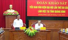 Đoàn Tiểu ban Văn kiện Đại hội XIII làm việc với Ban Thường vụ Tỉnh ủy Quảng Bình