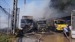 Đốt đồng cháy lan sang vựa phế liệu, thiêu rụi 3 xe tải
