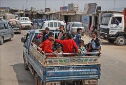 Xung đột gia tăng ở Tây Bắc Syria khiến hàng trăm nghìn người phải rời bỏ nhà cửa