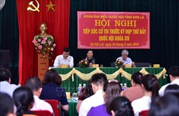 Phó Chủ tịch Thường trực Quốc hội Tòng Thị Phóng tiếp xúc cử tri Sơn La