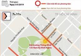 Hạn chế lưu thông tại một số tuyến đường TP Hồ Chí Minh phục vụ Lễ Quốc tang