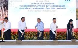 Thủ tướng dự lễ khởi công Dự án chăn nuôi bò sữa và chế biến sữa tại Thanh Hóa