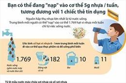 Bạn có thể 'nạp' vào cơ thể 5 gr nhựa mỗi tuần từ việc uống nước