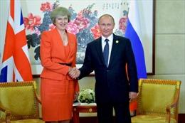 Tổng thống Nga V.Putin và Thủ tướng Anh gặp nhau bên lề Hội nghị thượng đỉnh G20