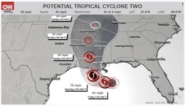 Mỹ ban bố tình trạng khẩn cấp đối phó với siêu bão Barry sắp đổ bộ