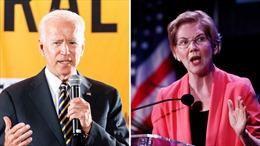 Hai ứng cử viên Joe Biden vàElizabeth Warren tiếp tục tranh đua trong đảng Dân chủ
