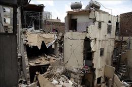 Liên quân Arab không kích lực lượng Houthi tại thủ đô Yemen